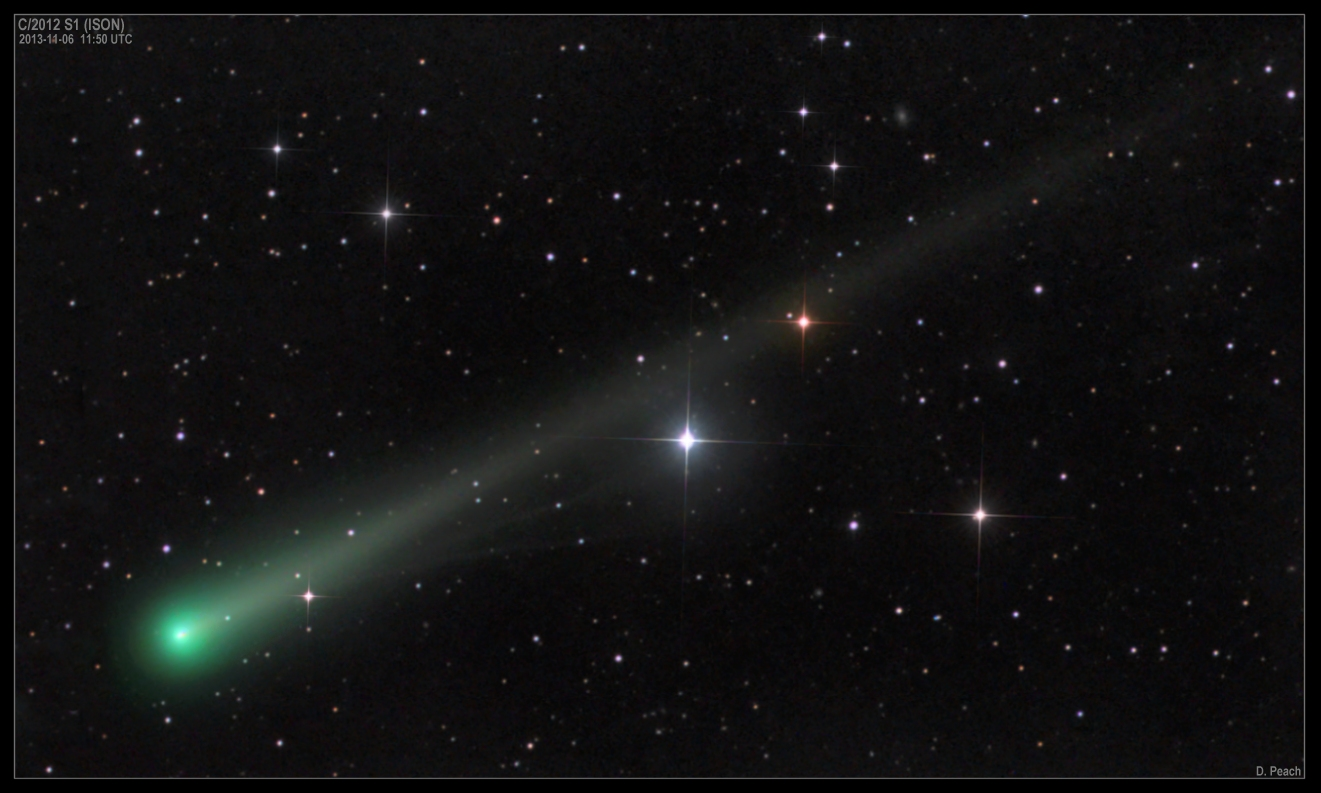 Comet ISON Heats Up, Grows New Tail