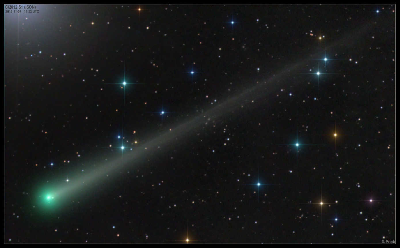 Damien Peach image of comet ISON November 7, 2013